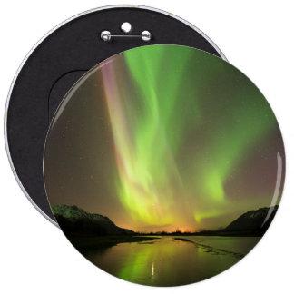 Multicolor Aurora Pinback Button