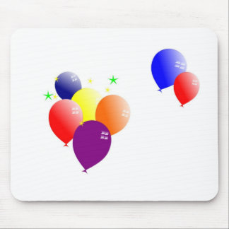 Multicolor balloons mouse pad