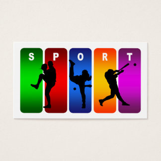 Multicolor Baseball Emblem Business Card