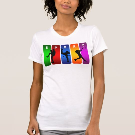 Multicolor Baseball Emblem T-Shirt