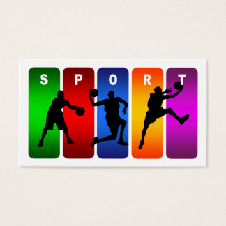 Multicolor Basketball Emblem Business Card