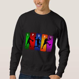 Multicolor Basketball Emblem Sweatshirt