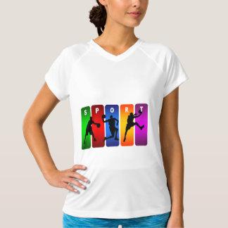 Multicolor Basketball Emblem T-shirt