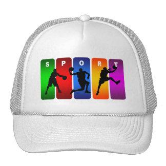 Multicolor Basketball Emblem Trucker Hat