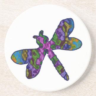 Multicolor Batik  Dragonfly Coaster
