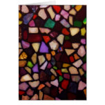 Multicolor Black Mosaic Card