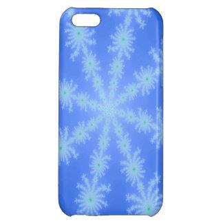 Multicolor blue fractal snowflake iPhone 5C case