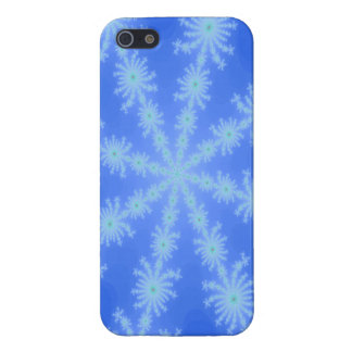 Multicolor blue fractal snowflake cases for iPhone 5