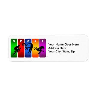 Multicolor BMX Emblem Label