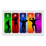 Multicolor Bodybuilding Emblem Poster