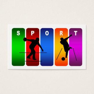 Multicolor Bowling Emblem Business Card