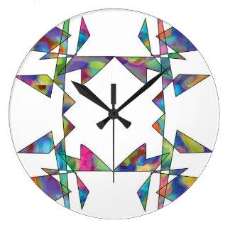 Multicolor brillante - reloj abstracto de las form
