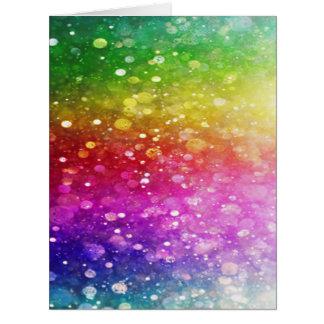 multicolor, brillo, encanto, chakra, diversión, tarjeta de felicitación grande