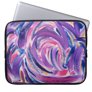 Multicolor Brushstrokes - Abstract Art Computer Sleeve