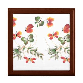 MultiColor Butterflies Art Jewelry Box