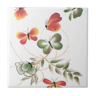 MultiColor Butterflies Art Tile