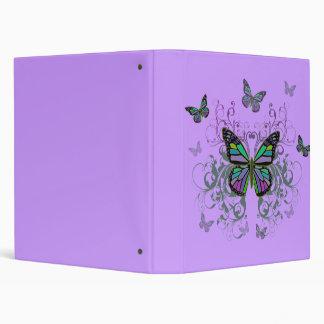 MultiColor Butterfly Binder