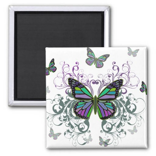 MultiColor Butterfly Refrigerator Magnets