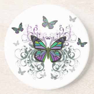 MultiColor Butterfly Sandstone Coaster