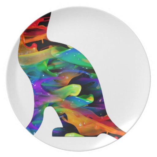 MULTICOLOR CAT PRODUCTS PLATE
