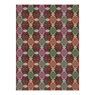Multicolor Chains and Squares Design Card