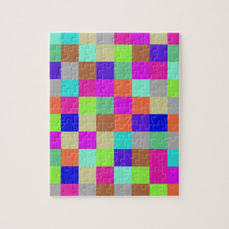 Multicolor Check Pattern Jigsaw Puzzle