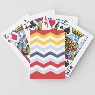 Multicolor Chevron design Bicycle Playing Cards
