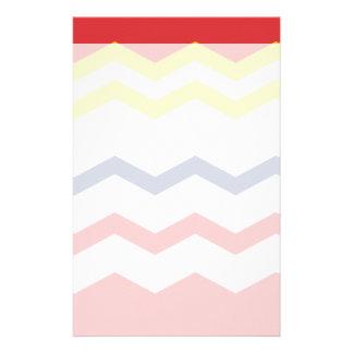 Multicolor Chevron Design Stationery