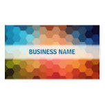 Multicolor Chevron Hexagonal Pattern 3 Business Card