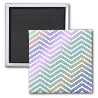 Multicolor chevron pattern 2 inch square magnet