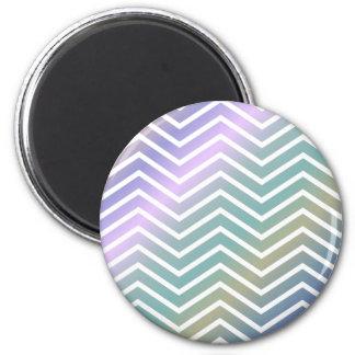 Multicolor chevron pattern 2 inch round magnet