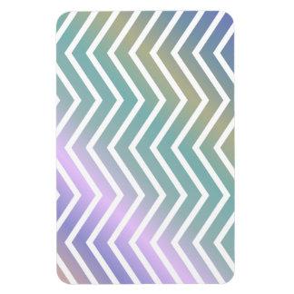 Multicolor chevron pattern rectangular photo magnet