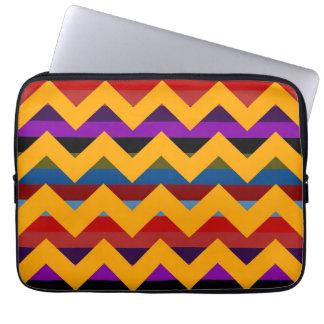 Multicolor Chevron Zigzag Stripe Pattern 14 Laptop Sleeve