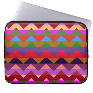 Multicolor Chevron Zigzag Stripe Pattern 4 Computer Sleeve