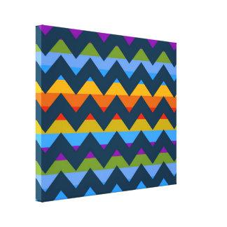 Multicolor Chevron Zigzag Stripe Pattern 7 Canvas Print