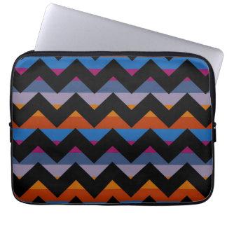 Multicolor Chevron Zigzag Stripe Pattern Laptop Sleeve