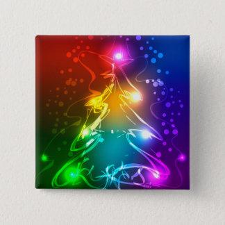 Multicolor Christmas Tree Button
