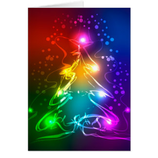 Multicolor Christmas Tree Cards