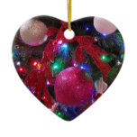 Multicolor Christmas Tree Colorful Holiday Ceramic Ornament