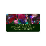 Multicolor Christmas Tree Colorful Holiday Label