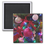 Multicolor Christmas Tree Colorful Holiday Magnet