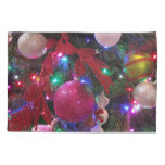 Multicolor Christmas Tree Colorful Holiday Pillowcase