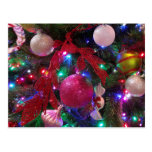 Multicolor Christmas Tree Colorful Holiday Postcard
