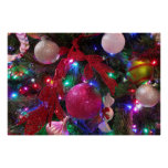 Multicolor Christmas Tree Poster