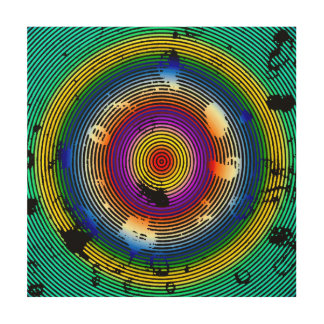 Multicolor Circled Abstract Art