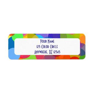 Multicolor Circles & Dots Label