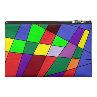 Multicolor Color Block Bag Travel Accessories Bags