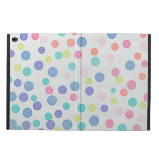 Multicolor confetti dots on light pebble grey powis iPad air 2 case