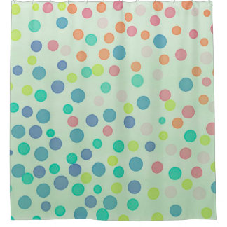 mint green shower curtain. Multicolor confetti dots on mint green shower curtain Pastel Pink And Green Shower Curtains  Zazzle