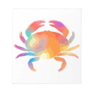 Multicolor Crab Note Pad